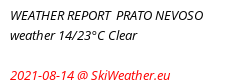 Snow report Prato Nevoso